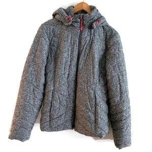 Womens Large Gray Tek Gear Warmtek Winter Coat